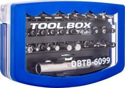 Narzędzia serwisowe DigitalBOX TOOL.BOX zestaw 30 bitów 6.3mm z adapterem/przedłużką (DBTB-6099)