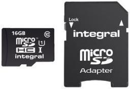 Karta Integral MicroSDHC 16GB (INMSDH16G10-90U1)