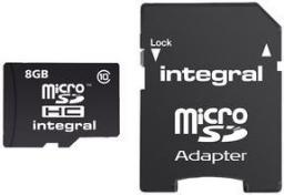 Karta Integral Ultima Pro MicroSDHC 8 GB Class 10 UHS-I/U1  (INMSDH8G10-90U1)