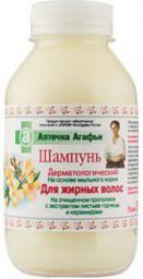 Babuszka Agafia Szampon dermatologiczny dla włosów tłustych 300 ml