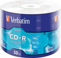 Verbatim CD-R 700MB EXTRA PROTECTION WRAP 50 szt. SPINDEL (43787)
