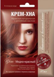Fitocosmetics Kremowa Henna MIEDZIANO-CZERWONA z olejkiem łopianowym 50ml