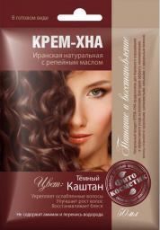 Fitocosmetics Kremowa Henna CIEMNY KASZTAN z olejkiem łopianowym 50ml