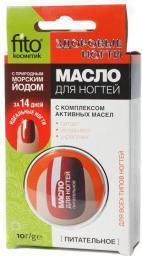 Fitocosmetics Odżywczy olejek do pielęgnacji paznokci i skórek z jodem morskim 10ml