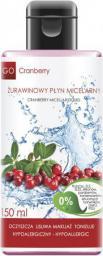 GoCranberry  Żurawinowy płyn micelarny do demakijażu i oczyszczania skóry 150 ml
