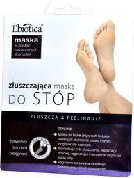 Lbiotica  Maska złuszczająca do stóp w postaci nasączonych skarpetek 1 para