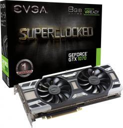 Karta graficzna EVGA GeForce GTX1070 SC Gaming 8GB GDDR5 (256 bit) 3x DP, DVI-D, HDMI, BOX (08G-P4-6173-KR)