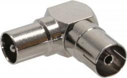 InLine Antenowe złącze koncentryczne IEC męski - żeńskie kątowe metalizowane (69915M)