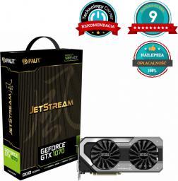 Karta graficzna Palit GeForce GTX 1070 JetStream 8GB GDDR5 (256 bit) HDMI, DVI, 3x DP, BOX (NE51070015P2J)