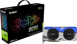 Karta graficzna Palit GeForce GTX 1070 GameRock 8GB GDDR5 (256 bit) 3x DP, HDMI, DVI (NE51070T15P2G)