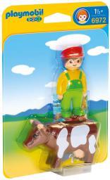 Playmobil Farmer z krową (6972)