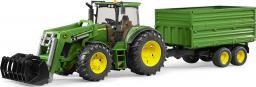 Bruder Traktor John Deere 7930 z ładowarką i przyczepą 2-osiową (03055)