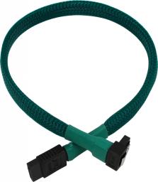 Nanoxia SATA/SATA, kątowy, 30cm, zielony (NXS6G3G)