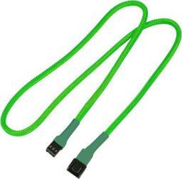 Nanoxia 3-Pin Molex przedłużacz 60cm neonowy zielony (NX3PV60NG)