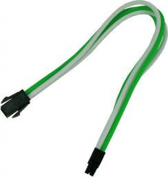 Nanoxia 4-Pin P4 przedłużacz 30cm, zielono-biały (NXP4V3EGW)