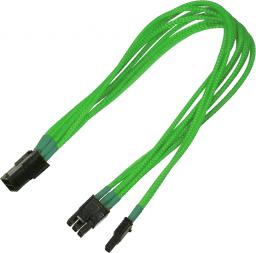 Nanoxia PCI-E 6 - 6+2-Pin Adapter, 30cm, neonowa zieleń (NXP683ENG)