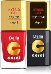 Delia Cosmetics Coral Hybrid Gel Emalia do paznokci nr 25  11ml