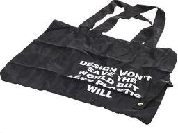 Pepco Czarna torba zakupowa z nadrukiem