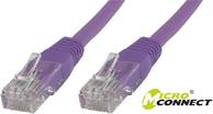 MicroConnect Kabel CAT 6 U/UTP 2m PVC Fioletowy (B-UTP602P)