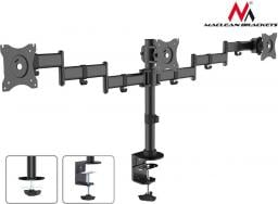 Maclean Biurkowy na 3 monitory, Podwójne ramiona (MC-691)