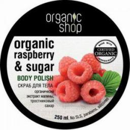 Organic Shop Peeling do ciała Malinowy Krem 250 ml