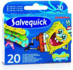 Salvequick  Plastry Sponge Bob dla dzieci  1op-20szt