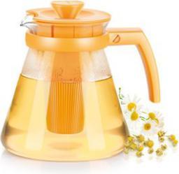 Dzbanek filtrujący Tescoma TEO TONE 1,25 l. z sitkami do zaparzania, żółty