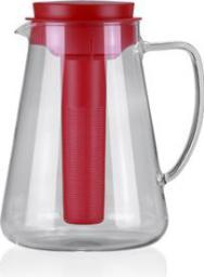 Dzbanek filtrujący Tescoma TEO 2.5 l, z wyjmowanym sitkiem i wkładem chłodzącym, czerwony