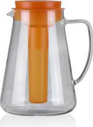 Dzbanek filtrujący Tescoma TEO 2.5 l, z wyjmowanym sitkiem i wkładem chłodzącym, pomarańczowy