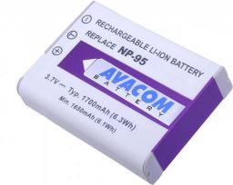 Akumulator Avacom Fujifilm NP-95, Ricoh DB-90 Li-Ion 3.7V, 1700mAh, 6.3Wh, ver 2010 (DIFU-NP95-351)