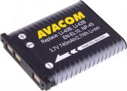 Akumulator Avacom Olympus Li-40B, Li-42B, Fujifilm NP-45, Nikon EN-EL10,  Li-ion 3.7V,  740mAh,  2.7Wh (DIOL-LI40-AVA)