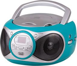 Radioodtwarzacz Trevi Boombox turkusowy CD 512