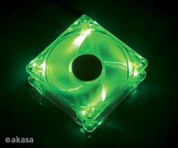 Akasa Wentylator Bright Green, 120 x 25mm AK-274CG-4GNS