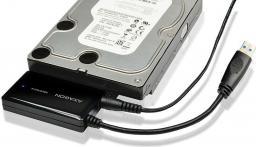 Kieszeń Axagon Adapter SATA na USB 3.0 + zasilacz Czarny (ADSA-FP3)