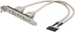 MicroConnect 2x USB na śledziu (USBAINTERNAL1)