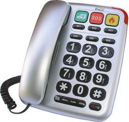Telefon przewodowy Dartel LJ-300 srebrny