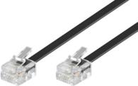 MicroConnect RJ-11/RJ-11 (M/M) 10m Czarny (MPK190)