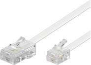 MicroConnect RJ-11/RJ-45 (M/M) 3m Biały (MPK453)