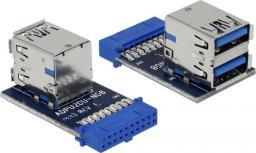 Delock USB 3.0 - 19-pin Srebrny (41865)