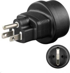MicroConnect Universal adapter US/Schuko (PETRAVEL3)