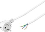 MicroConnect z wtyczką Schuko, 3m, biały  (PE14030SOW)