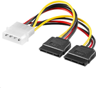 MicroConnect Adapter Molex - 2x SATA, 0.2m (PI01092)