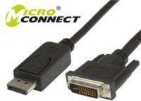 Kabel MicroConnect DVI DisplayPort, 2m, Czarny (DP-DVI-MM-200)