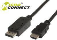 Kabel MicroConnect DisplayPort - HDMI 2m czarny (DP-HDMI-200)