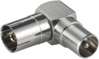 Adapter AV MicroConnect Coxial, kątowy    F/M  (COAXADAPTERA)