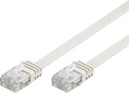 MicroConnect RJ-45/RJ-45 kat.6 0.25m Biały (V-UTP60025W-FLAT)