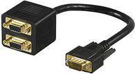 Kabel MicroConnect D-Sub (VGA) x2 D-Sub (VGA), 0.2, Czarny (MONG2F1M)