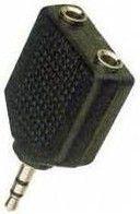Adapter AV MicroConnect Jack 3.5mm na 2x 3.5mm Czarny (AUDALS)