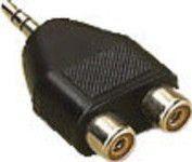 Adapter AV MicroConnect Jack 3.5mm na 2x RCA (AUDALH)