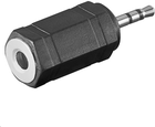 Adapter AV MicroConnect Jack 2.5mm na 3.5mm (M/F) Czarny (AUDASM)